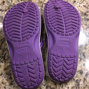 CROCS Shoes - Size 8 purple crocs